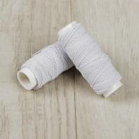Нитки швейные эластичные Спандекс 1 мм, 25 м (Шляпная резинка), белый, 1шт