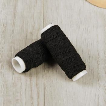Нитки швейные эластичные Спандекс 1 мм, 25м (Шляпная резинка), черный, 1шт