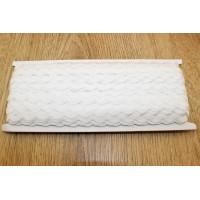 Декоративная лента ЗИГ-ЗАГ (вьюнчик) 5мм - Белый, 1м