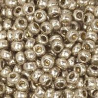 Бисер/Preciosa, 10/0, 50 гр - 18113 серебристо-желтый металлик