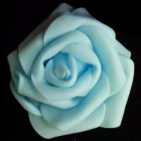 Роза бутон 6см, фоамиран - голубой, 1шт