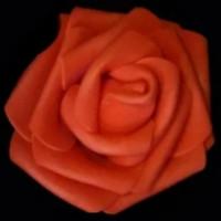 Роза бутон 6см, фоамиран - красный, 1шт