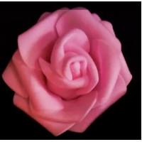 Роза бутон 6см, фоамиран - розовый, 1шт