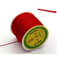 Шнур терилен шамбала 0,8 мм, КАТУШКА 90-100м, цвет красный, 1 шт.