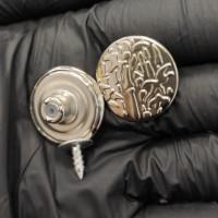 Пуговица джинсовая 20 мм с рисунком (никель), 1шт