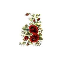Трансфер универсальный Cadence Алые розы большие 17х25см, 1 лист