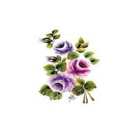Трансфер универсальный Cadence Букет лиловых роз большой 17х25см, 1 лист