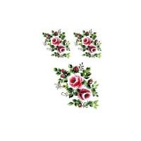 Трансфер универсальный Cadence Розовые розочки малые 17х25см, 1 лист