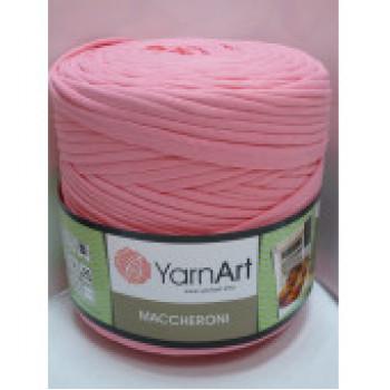 Пряжа Maccheroni (Макарони), YarnArt (Турция), 600+/-100гр, ~150м, 90% восстановленный хлопок, 10% полиэстер - розовый светлый