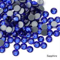 Стеклянные термостразы ss16 (3,8 - 4 мм), уп. 6 гр (~185 шт.),  Sapphire - синий