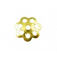 Шапочки (розетки) для бусин, 6мм, под золото, уп. 5 гр (~210 шт)