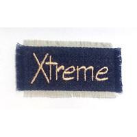 Термонаклейка на одежду Xtreme 15866 P 3х7см, сине-бежевый