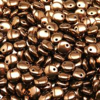 Lentil Beads (Чечевица) - Бусины чешские стеклянные 6мм, 14415 - черный с покрытием бронзовый глянцевый непрозрачный (50 шт)
