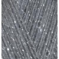 Пряжа Angora Gold Simli (Ангора голд Симли), ALIZE (Турция), 500м, 100гр, 10% мохер,10% шерсть, 75% акрил, 5% металлик, 87 - Угольно серый
