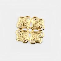 Филигрань металлическая ромб / квадрат, 35х35мм, под золото, 1шт