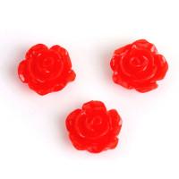 Декоративные Розочки из смолы 10мм, уп. 6 шт. (красные)