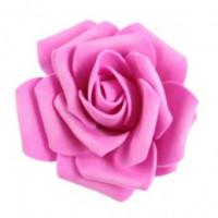 Роза бутон 7,5см, фоамиран - фуксия, 1шт