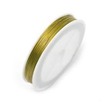 Ювелирный тросик (ланка) 0.45мм 100м ± 5м №12 золото