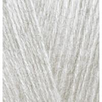 Пряжа AngoraGold (Ангора голд), ALIZE (Турция), 550м, 100гр, 10% мохер,10% шерсть, 80% акрил - 208 светло-серый меланж