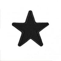 Термонаклейка на одежду 016 - Звезда 6 см - черный