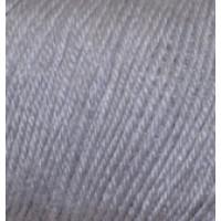 Пряжа Baby Wool (Бэйби Вул), Alize (Турция), 175м, 50гр, 40% шерсть, 20% бамбук, 40% акрил, 119 Серый