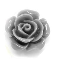 Декоративные Розочки из смолы 14мм, уп. 4 шт. - серый