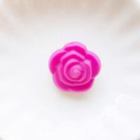 Бусина силиконовая Розочка 21мм, 1шт - малиновый