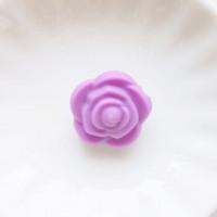 Бусина силиконовая Розочка 21мм, 1шт - темно-сиреневый