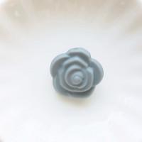 Бусина силиконовая Розочка 21мм, 1шт - серый
