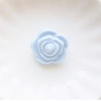 Бусина силиконовая Розочка 21мм, 1шт - пастельно-голубой