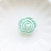 Бусина силиконовая Розочка 21мм, 1шт - мятно-зеленый