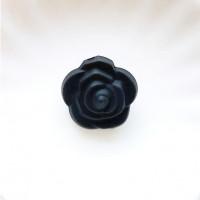 Бусина силиконовая Розочка 21мм, 1шт - черный