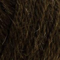 Пряжа Деревенька, Троицк (Россия), 170м, 100гр, 100% шерсть, 372 Натуральный Темно-коричневый