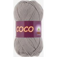 Пряжа COCO (КОКО), Vita Cotton (Индия), 240м, 50гр, 100% мерсеризованный хлопок, 4333 Серый