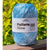 Пряжа Paillette (Пайлетте) - добав. нить с пайетками, 140 м, 25 гр, 100% Полиэстер - 42 Голубой