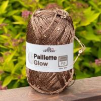Пряжа Paillette (Пайлетте) - добав. нить с пайетками, 140 м, 25 гр, 100% Полиэстер - 31 Норка