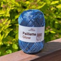 Пряжа Paillette (Пайлетте) - добав. нить с пайетками, 140 м, 25 гр, 100% Полиэстер - 46 Джинс Св.