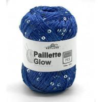 Пряжа Paillette (Пайлетте) - добав. нить с пайетками, 140 м, 25 гр, 100% Полиэстер - 45 Джинс