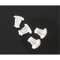 уп. 5 пар - Заглушки для пусет (сережек-гвоздиков) силиконовые