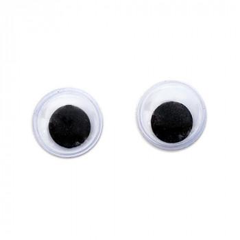 Глаза круглые с бегающими зрачками 8мм (уп. 20 шт)