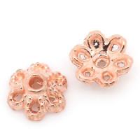Шапочки (розетки) для бусин, 6х2,8мм, под розовое золото, уп 5 гр (~50 шт)