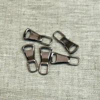 Пуллер для молнии (язычок для собачки) металл, 25 мм, цвет черный никель, 1 шт