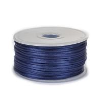 Шнур атласный 2мм - 3165 синий, 1м