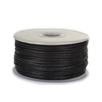 Шнур атласный 2мм - 3173 черный, 1м