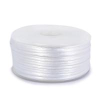 Шнур атласный 2мм - 3001 белый, КАТУШКА 50 м