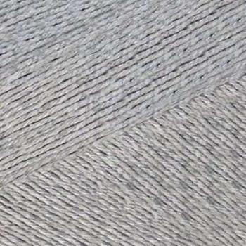 Пряжа Мотылек, КАМТЕКС (Россия), 140м, 50гр, 70% хлопок, 30% лавсан, 008 серебристый