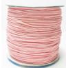 Шнур вощеный 1мм 138-розовый, 1м
