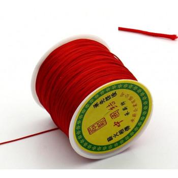 Шнур терилен шамбала 0,8 мм, цвет красный, 1м