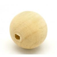 Бусина деревянная 20мм, отверстие 3,8 мм, уп 2 шт.