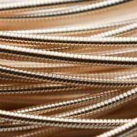 Канитель жесткая 1,25 мм - арт. 1439 розовое золото (тепл.), уп. 5 гр (~0,8 м)